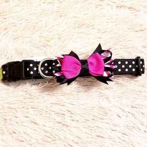 Adorable Dog Collar, Polka Dot with Bow